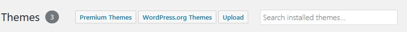 bluehost themes options bar