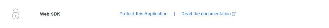 Screenshot of duo web sdk options