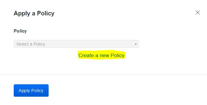 Screenshot of duo policy screen with option to create new policy